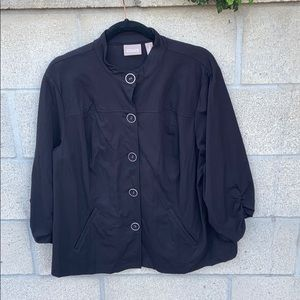 Chico's black jacket with 3/4 sleeves